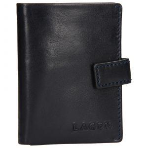Pánská kožená peněženka/vizitkář Lagen Michael – modrá