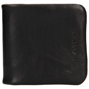 Pánská kožená peněženka/mincovník Lagen Ivo – černá