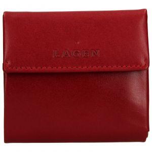 Dámská kožená peněženka Lagen Aneta – červená