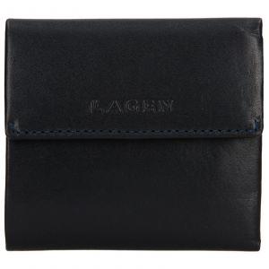 Dámská kožená peněženka Lagen Aneta – modrá