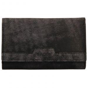 Dámská kožená peněženka Lagen Peria – černá
