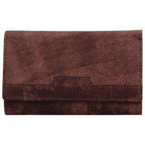 Dámská kožená peněženka Lagen Peria – hnědá