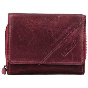 Dámská kožená peněženka Lagen Amy – fialovo-růžová