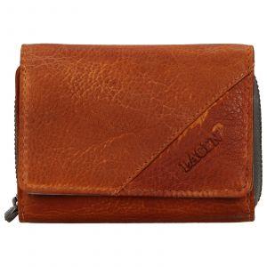 Dámská kožená peněženka Lagen Amy – hnědo-šedá