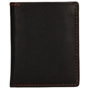 Pánská kožená slim peněženka Lagen Revo – hnědá