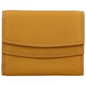 Dámská kožená peněženka DD Anekta Renna – žlutá