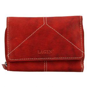 Dámská kožená peněženka Lagen Katie – červená