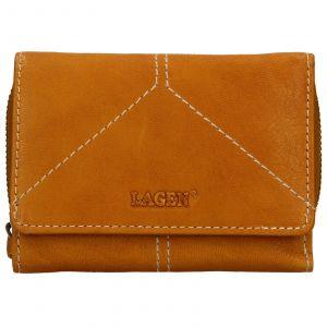 Dámská kožená peněženka Lagen Katie – žlutá