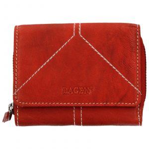 Dámská kožená peněženka Lagen Amy – červená