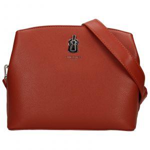 Dámská crossbody kabelka David Jones Karmen – červeno-hnědá