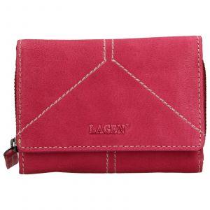 Dámská kožená peněženka Lagen Katie – růžová