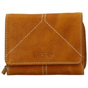 Dámská kožená peněženka Lagen Amy – žlutá
