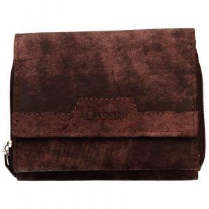 Dámská kožená peněženka Lagen Olivia – hnědá