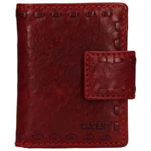 Dámská kožená peněženka Lagen Luren – červená