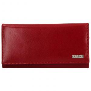 Dámská kožená peněženka Lagen Emma – červená