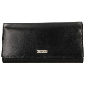 Dámská kožená peněženka Lagen Nathalie – černá