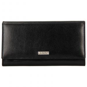 Dámská kožená peněženka Lagen Alexia – černá