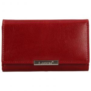Dámská kožená peněženka Lagen Emily – červená