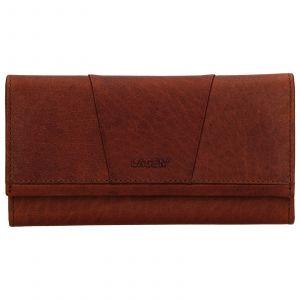 Dámská kožená peněženka Lagen Chloe – koňak