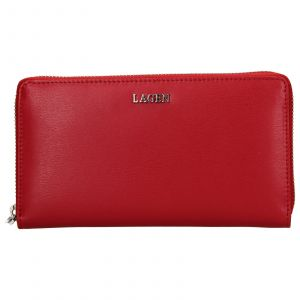 Dámská kožená peněženka Lagen Dita – červená