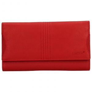 Dámská kožená peněženka Lagen Sarah – červená