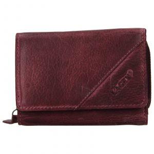 Dámská kožená peněženka Lagen Norras – fialová
