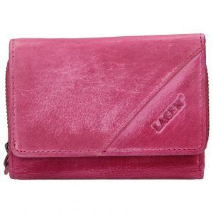 Dámská kožená peněženka Lagen Norras – růžová