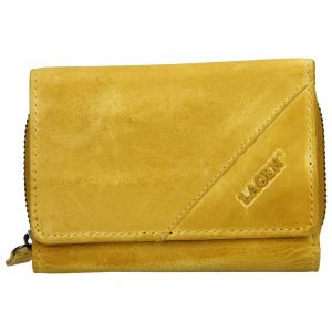 Dámská kožená peněženka Lagen Norra – žlutá