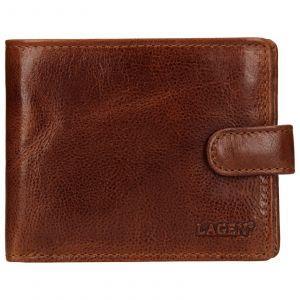 Pánská kožená peněženka Lagen Mareto – světle hnědá