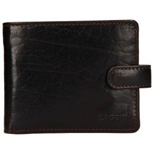 Pánská kožená peněženka Lagen Mareto – tmavě hnědá
