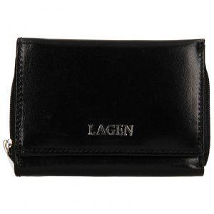 Dámská kožená peněženka Lagen Béta – černá