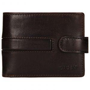 Pánská kožená peněženka Lagen Vander – tmavě hnědá