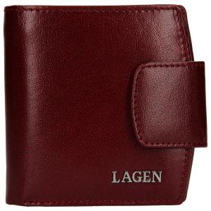 Dámská kožená peněženka Lagen Ljuba – vínová