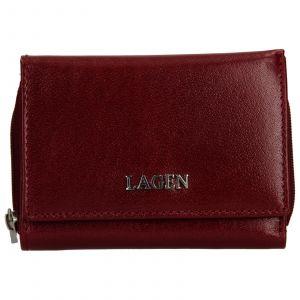 Dámská kožená peněženka Lagen Berta – vínová