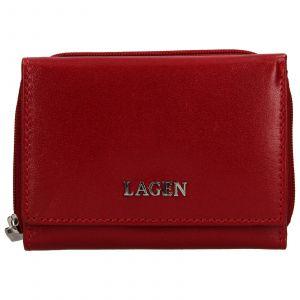 Dámská kožená peněženka Lagen Béta – červená