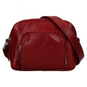 Dámská crosbody kabelka Lagen Candy – tmavě červená
