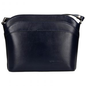 Dámská kožená kabelka Vera Pelle Tinna – modrá