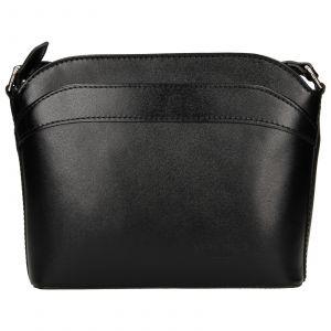 Dámská kožená kabelka Vera Pelle Tinna – černá