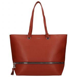 Dámská kabelka David Jones Edna – oranžovo-hnědá