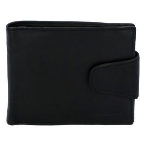 Pánská kožená peněženka černá – Delami 11816A černá