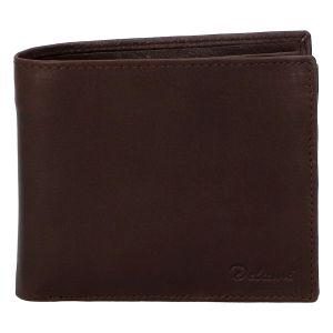 Pánská kožená volná tmavě hnědá peněženka – Delami 8222 hnědá