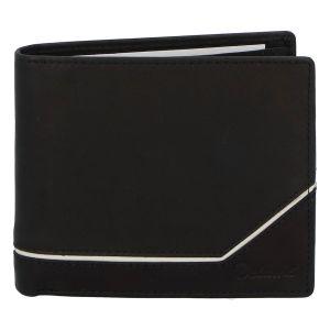Pánská kožená peněženka černá – Delami Tirasen černo/bílá