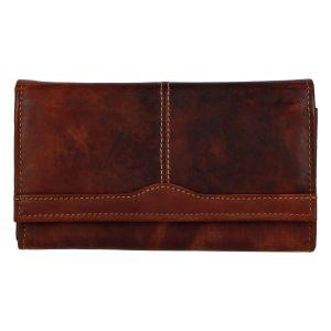 Dámská kožená peněženka hnědá – Tomas Salto hnědá