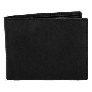 Pánská kožená peněženka černá – Diviley Marek černá