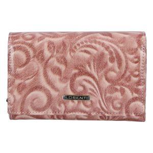 Dámská kožená lakovaná peněženka růžová – Lorenti 112X růžová