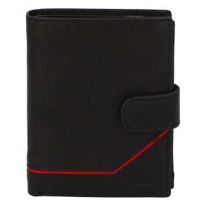 Pánská kožená peněženka černá – Delami Euro 2 černá