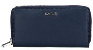 Lagen Dámská kožená peněženka 50386 Dark Blue