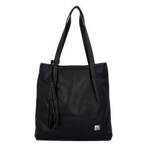Velká dámská kabelka přes rameno černá – Pierre Cardin Elis černá