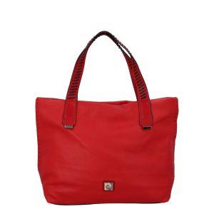 Velká dámská kabelka přes rameno červená – Pierre Cardin Altin červená
