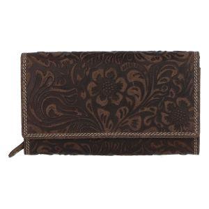 Dámská kožená peněženka tmavě hnědá – Tomas Imbali hnědá
